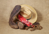boots, hat and horseshoes 3 poster