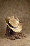 boots, hat and horseshoes 1 poster