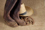 boots, hat and horseshoes 2 poster