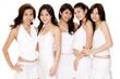 asian women in white #1
