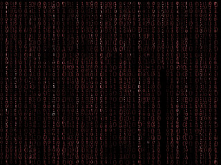 binary matrix red background