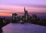 skyline frankfurt bei nacht poster