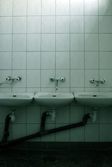 three sinks