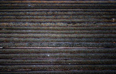 rusty horizontal lines