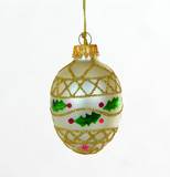 light gold christmas ornament poster