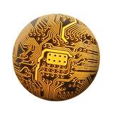 spherical circuit poster