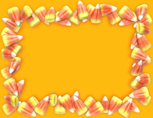 candy corn frame