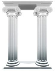 ionic columns frame