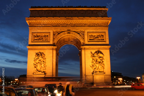 canvas print picture arc de triomphe à paris