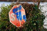 stop sign, knappa dock poster