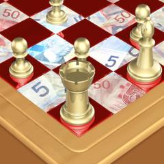 chess money concept 3d
