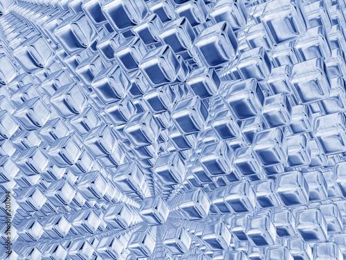 silver blue qubes