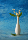 still life with lily of the valley poster