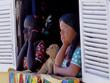 mannequins brésiliens à la fenêtre