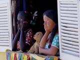 mannequins brésiliens à la fenêtre poster