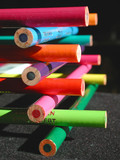colorful pencil crayons poster