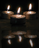candles burning poster
