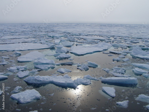 Leinwanddruck Bild the arctic sea