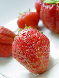strawberry in macro poster