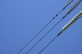 high-voltage line on sky background poster