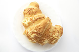 morning croissant with chees poster