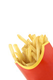 isolated french fries poster