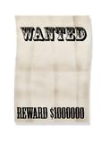 wanted!reward 1000000$ poster