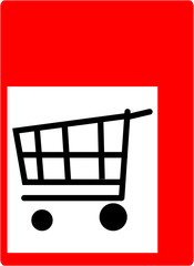shopping sign