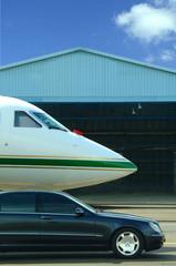 avion et voiture