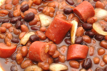 beans and hot dog stew