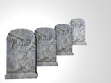 four tombstones poster