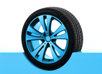 car tire presentation
