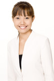 smiling businesswoman 2 poster