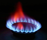 gas stove flame poster