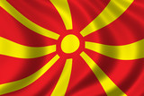 flag of macedonia poster