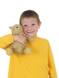 boy and his teddy three poster