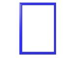 blue frame poster