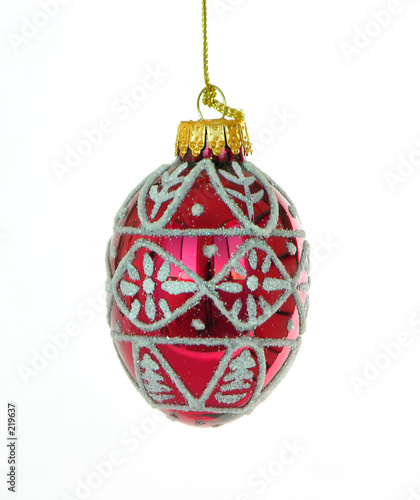 poster of red christmas ornament