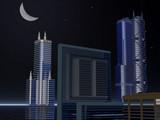 skyline night poster