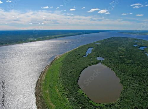 yenisei river-aerial view - 221062