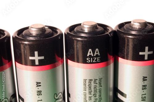 Leinwanddruck Bild batterien 04