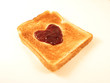valentine toast with jam