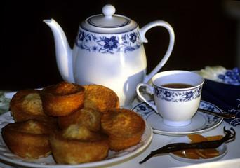 thé et petits cakes