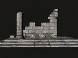 greek ruins poster