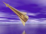 golden spaceship poster