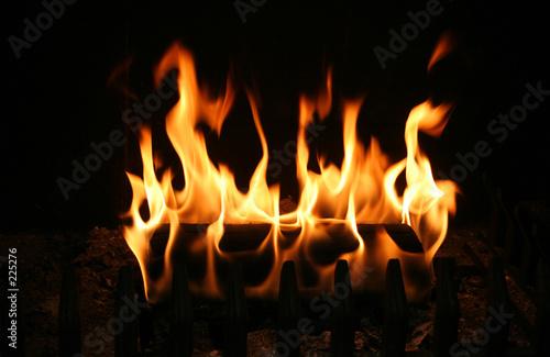 Leinwandbild Motiv burning log