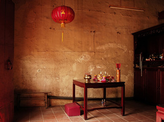 malaysia, malacca: chinese temple