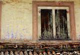 malaysia, malacca: old wall poster