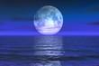 Leinwandbild Motiv moon rise