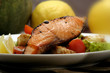 grilled salmon and salad 2